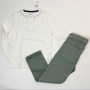 NWT Gap long sleeve and Gymboree Jeans